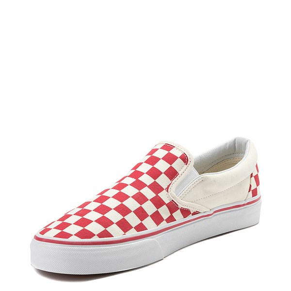 alternate view Vans Slip On Checkerboard Skate Shoe - Red / WhiteALT3