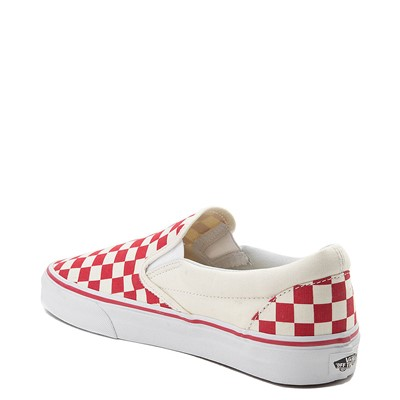 Alternate view of Vans Slip On Checkerboard Skate Shoe - Red / White
