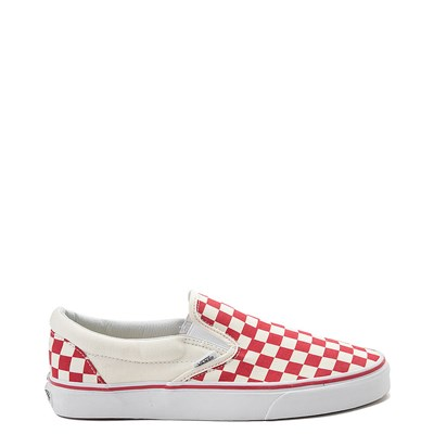 Main view of Vans Slip On Red Chex Skate Shoe