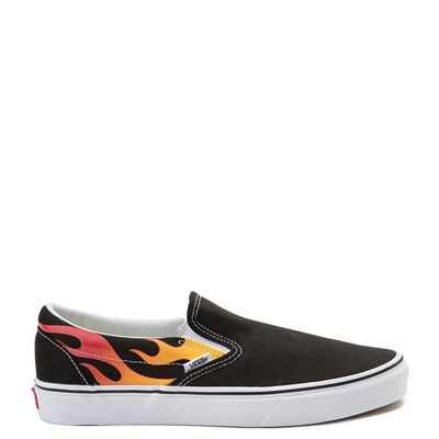 Main view of Vans Slip On Flames Skate Shoe