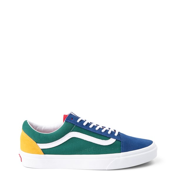 Default view of Vans Old Skool Skate Shoe - Blue / Green / Yellow