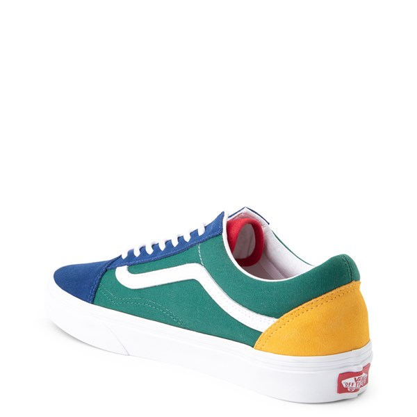 alternate view Vans Old Skool Skate Shoe - Blue / Green / YellowALT2