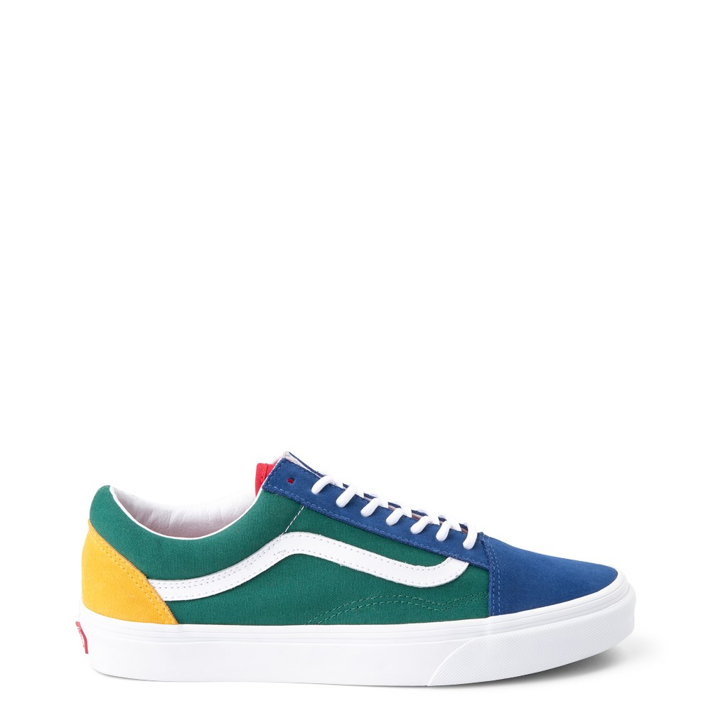Vans Old Skool Skate Shoe - Blue / Green / Yellow