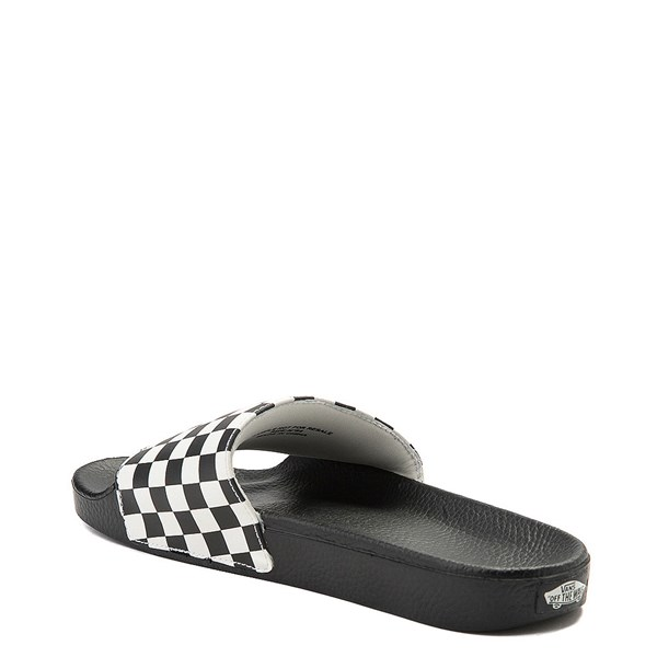 alternate view Mens Vans Slide On Checkerboard Sandal - Black / WhiteALT2