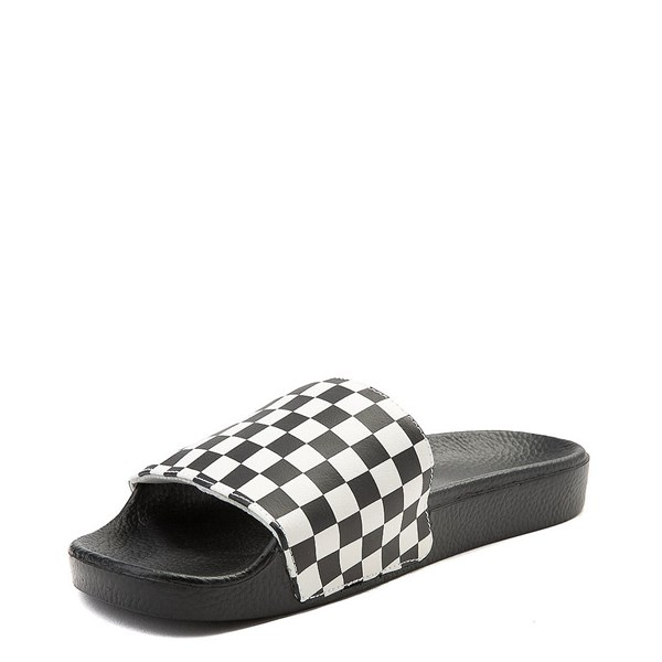 alternate view Mens Vans Slide On Checkerboard Sandal - Black / WhiteALT3