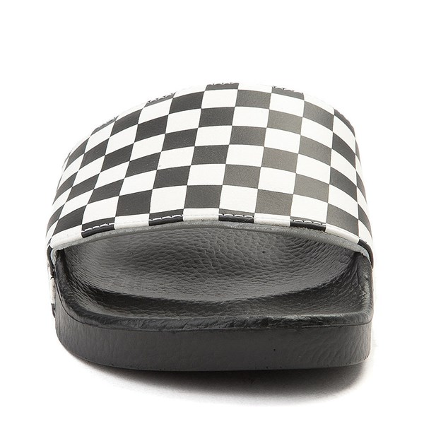 alternate view Mens Vans Slide On Checkerboard Sandal - Black / WhiteALT4