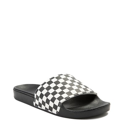 Alternate view of Mens Vans Slide On Checkerboard Sandal - Black / White
