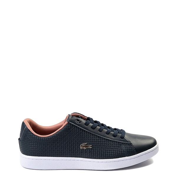 Womens Lacoste Carnaby Weave Athletic Shoe - Navy