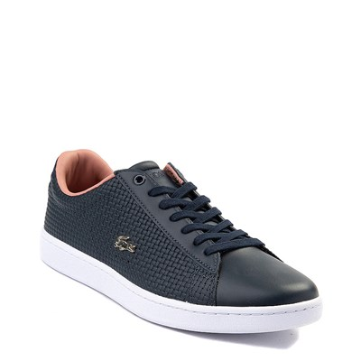 Alternate view of Womens Lacoste Carnaby Weave Athletic Shoe - Navy