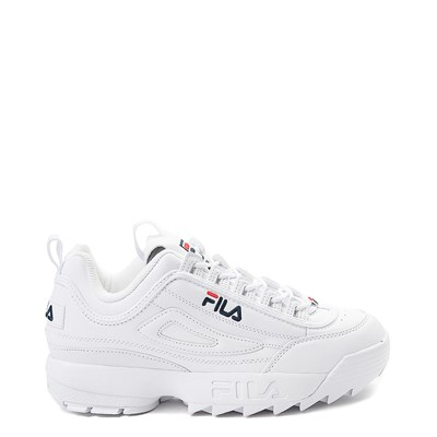 Main view of Womens Fila Disruptor 2 Premium Athletic Shoe - White