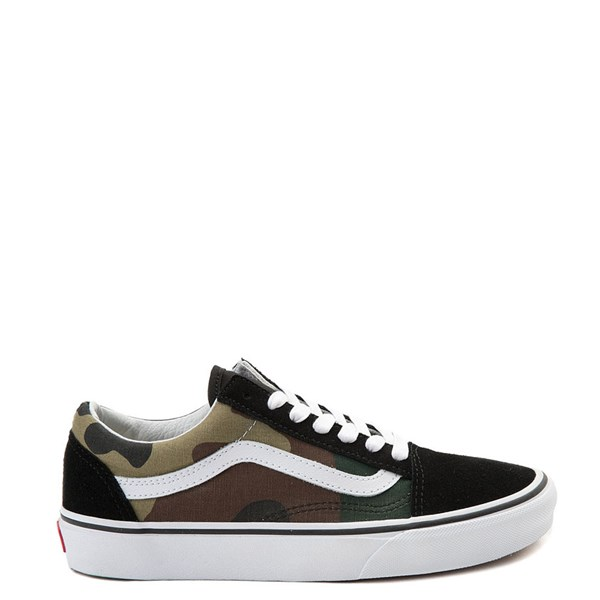 Main view of Vans Old Skool Skate Shoe - Black / Camo