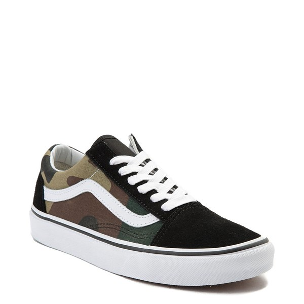 alternate view Vans Old Skool Skate Shoe - Black / CamoALT1