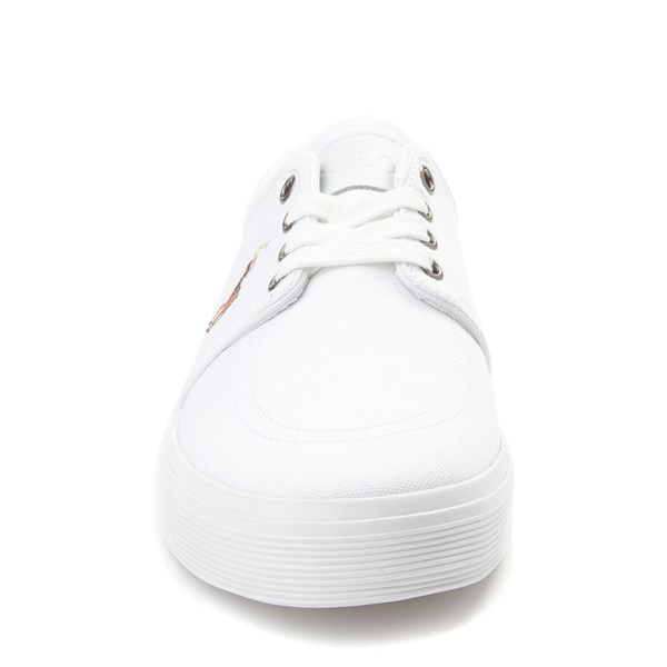 alternate view Mens Faxon Casual Shoe by Polo Ralph Lauren - WhiteALT4