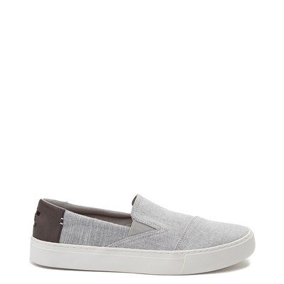 Main view of Mens TOMS Luca Slip On Casual Shoe- Gray