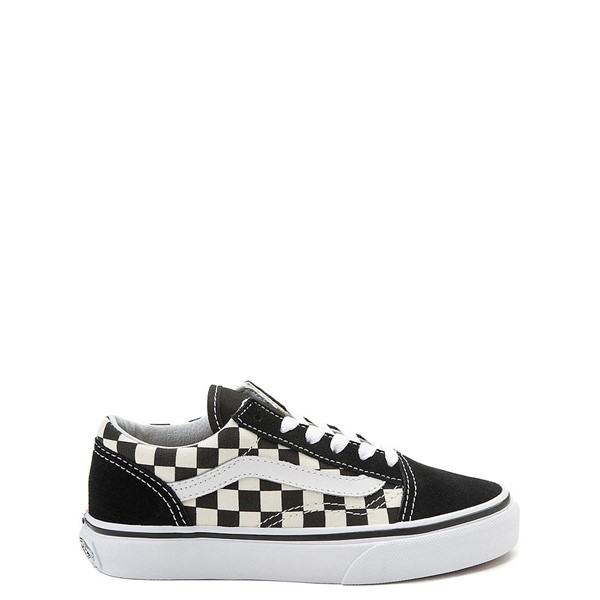 Default view of Vans Old Skool Checkerboard Skate Shoe - Little Kid / Big Kid - Black / White