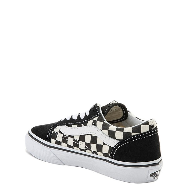 alternate view Vans Old Skool Checkerboard Skate Shoe - Little Kid - Black / WhiteALT1
