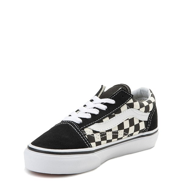 alternate view Vans Old Skool Checkerboard Skate Shoe - Little Kid - Black / WhiteALT2