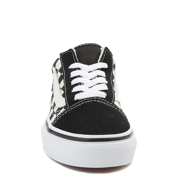alternate view Vans Old Skool Checkerboard Skate Shoe - Little Kid - Black / WhiteALT4