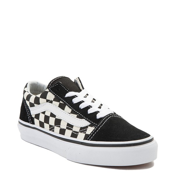 Alternate view of Vans Old Skool Checkerboard Skate Shoe - Little Kid - Black / White