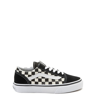 Main view of Vans Old Skool Checkerboard Skate Shoe - Little Kid  - Black / White