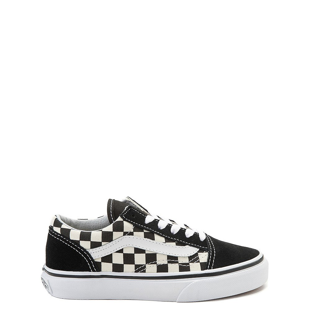 Vans Old Skool Checkerboard Skate Shoe - Little Kid  - Black / White