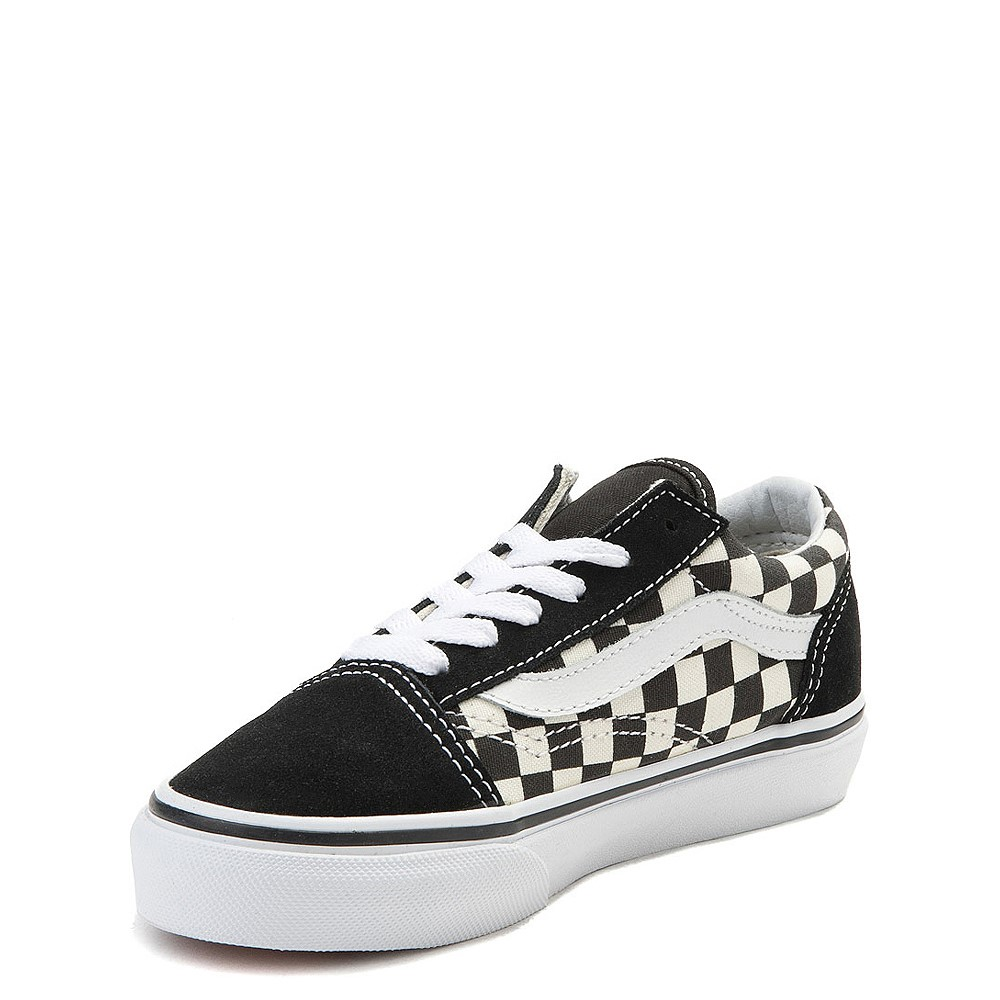 youth black and white vans