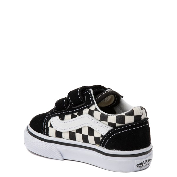 alternate view Vans Old Skool V Checkerboard Skate Shoe - Baby / Toddler - Black / WhiteALT2