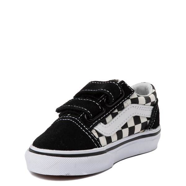 alternate view Vans Old Skool V Checkerboard Skate Shoe - Baby / Toddler - Black / WhiteALT3