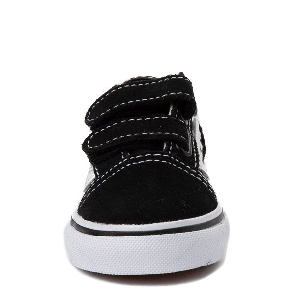 alternate view Vans Old Skool V Checkerboard Skate Shoe - Baby / Toddler - Black / WhiteALT4