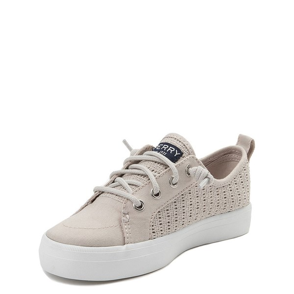 alternate view Sperry Top-Sider Crest Vibe Casual Shoe - Little Kid / Big Kid - StoneALT3