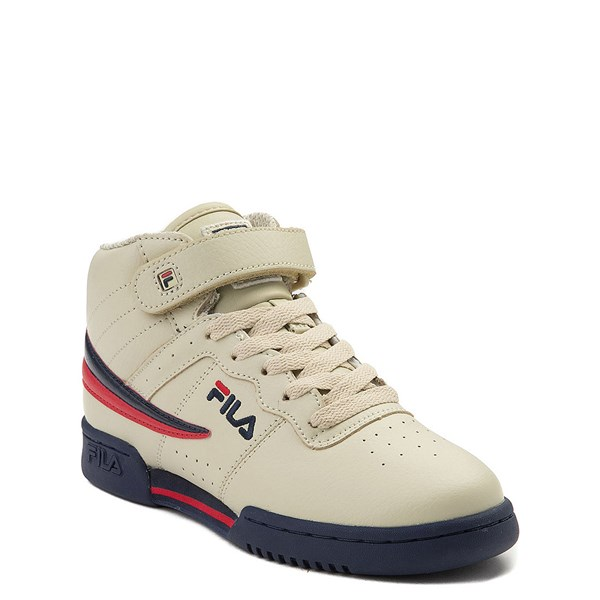 alternate view Fila F-13 Athletic Shoe - Big Kid - Beige / Navy / RedALT1