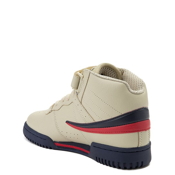 alternate view Fila F-13 Athletic Shoe - Big Kid - Beige / Navy / RedALT2