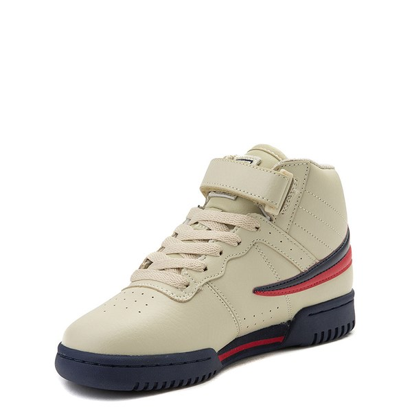 alternate view Fila F-13 Athletic Shoe - Big Kid - Beige / Navy / RedALT3