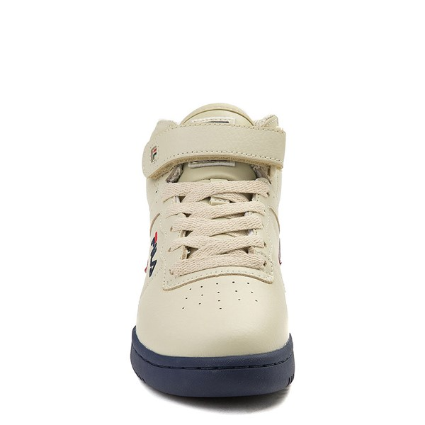 alternate view Fila F-13 Athletic Shoe - Big Kid - Beige / Navy / RedALT4