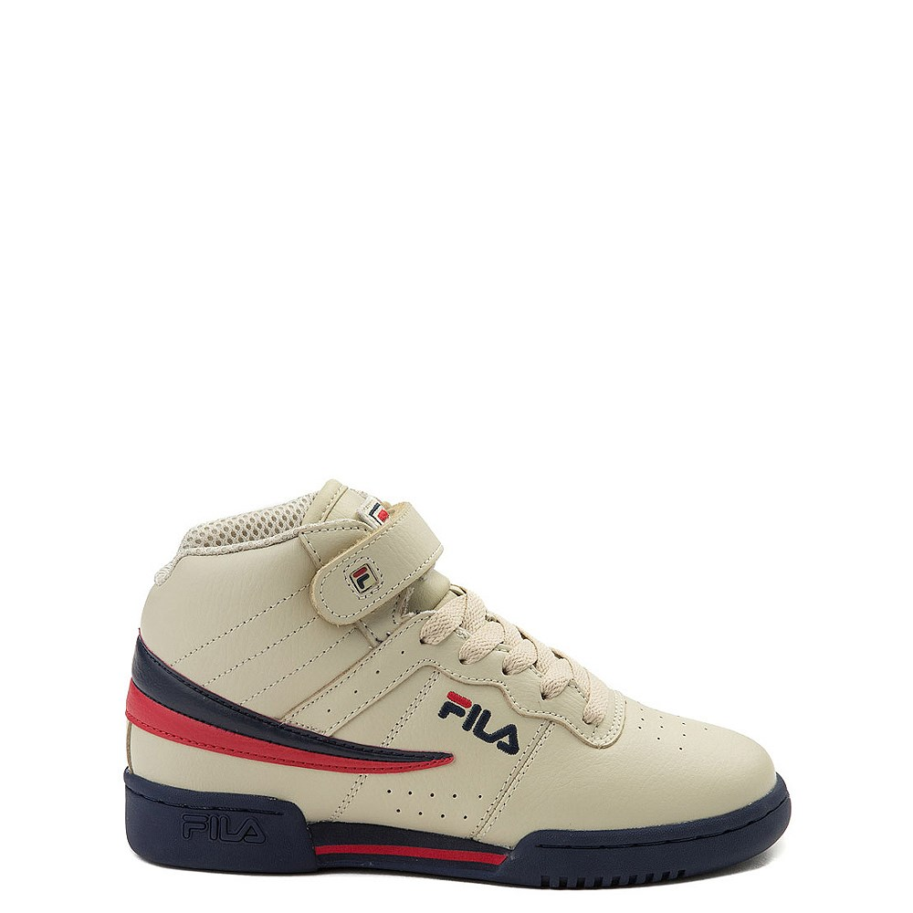 Fila F-13 Athletic Shoe - Big Kid - Beige / Navy / Red