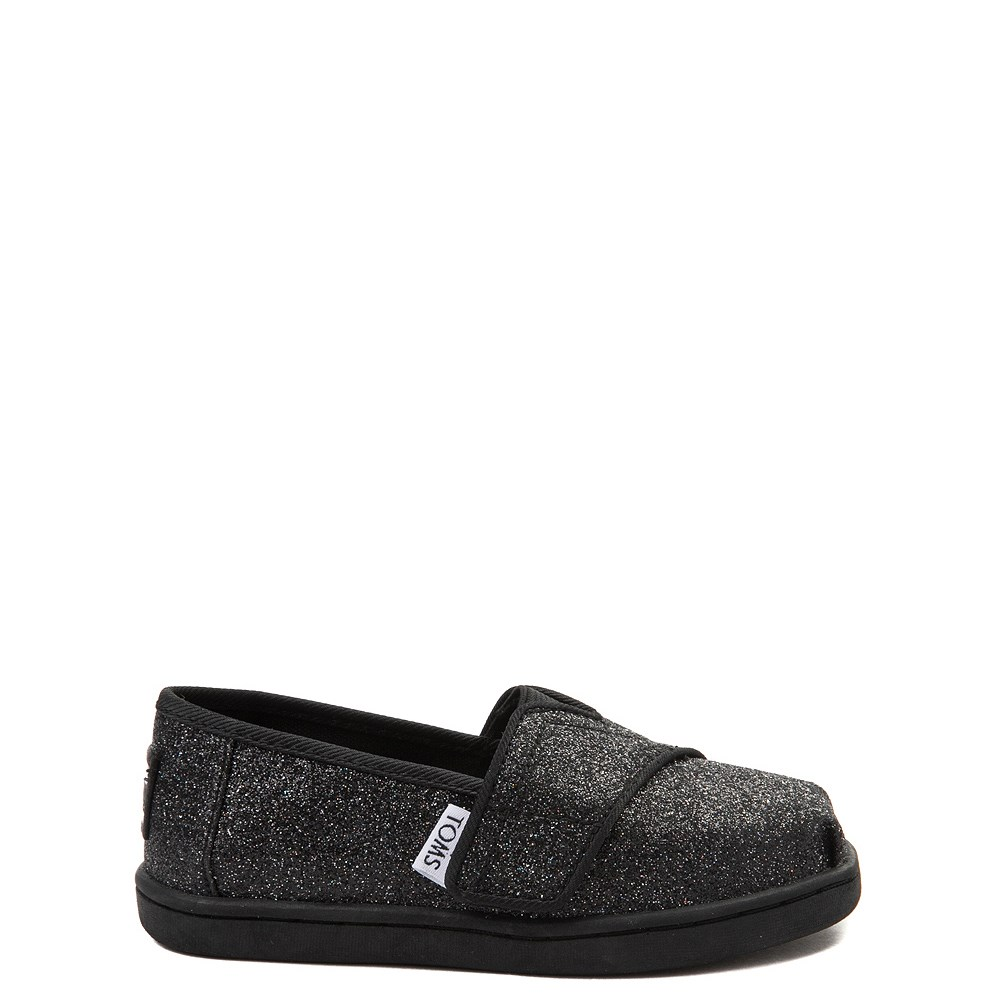 TOMS Classic Glitter Slip On Casual Shoe - Baby / Toddler / Little Kid