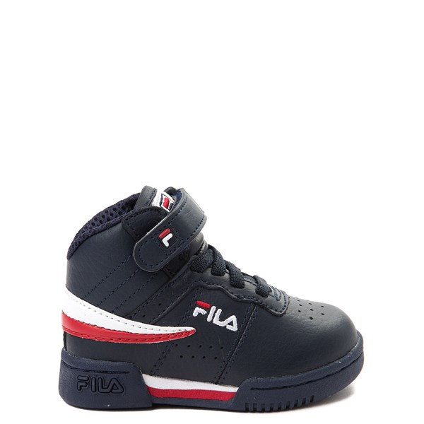 Fila F-13 Athletic Shoe - Baby / Toddler - Navy / Red / White