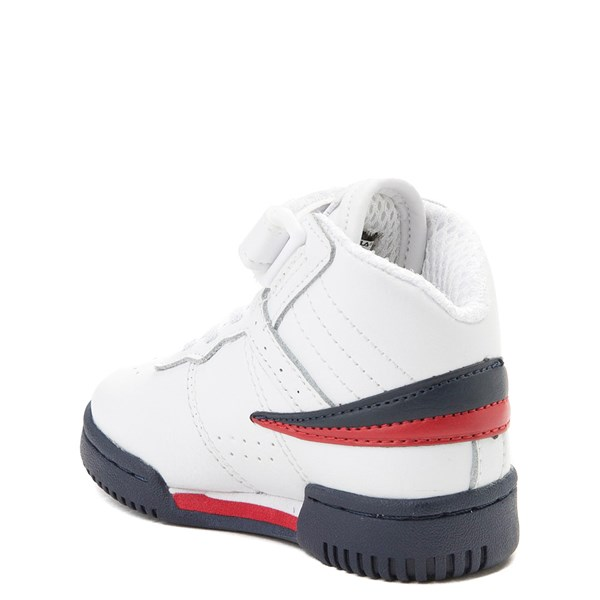 alternate view Fila F-13 Athletic Shoe - Baby / Toddler - White / Navy / RedALT2