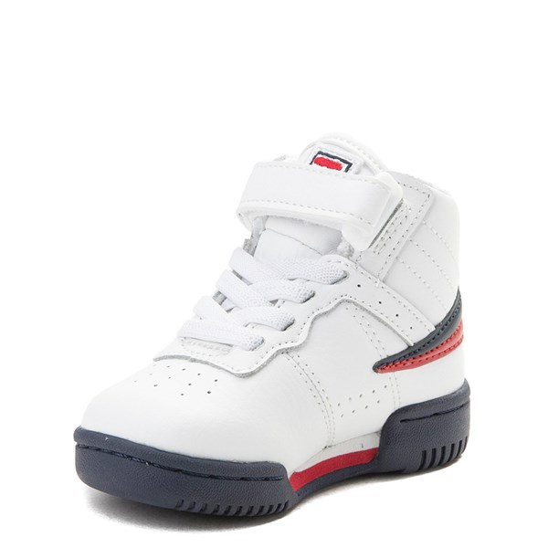 alternate view Fila F-13 Athletic Shoe - Baby / Toddler - White / Navy / RedALT3
