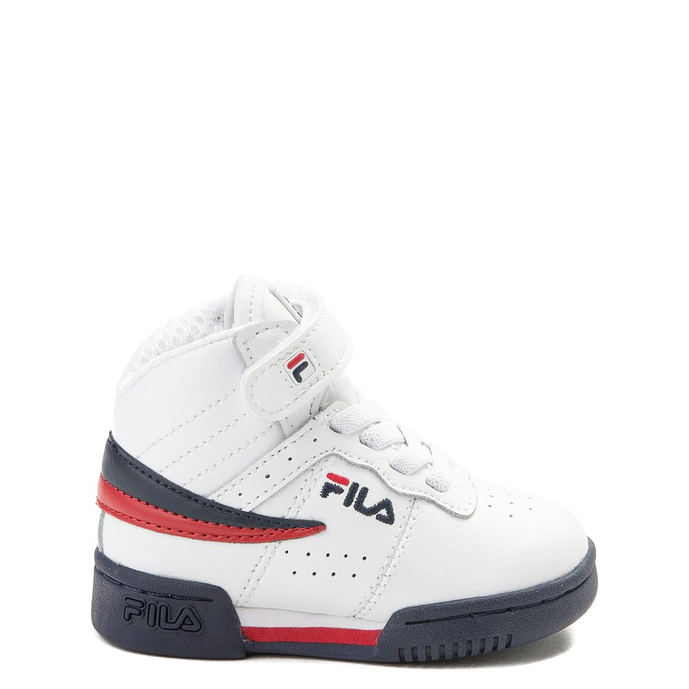 Fila F-13 Athletic Shoe - Baby / Toddler - White / Navy / Red