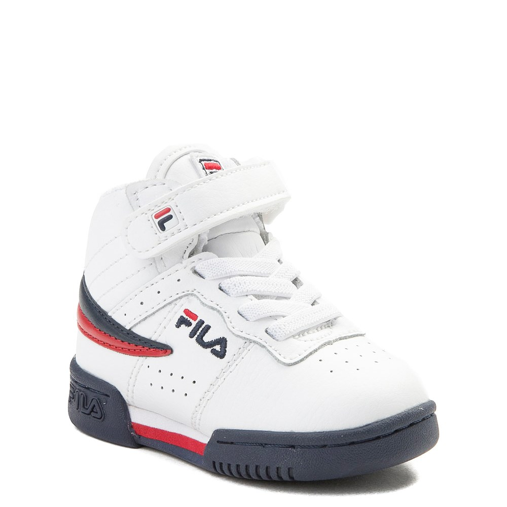 Fila F 13 Athletic Shoe Baby Toddler White Navy Red