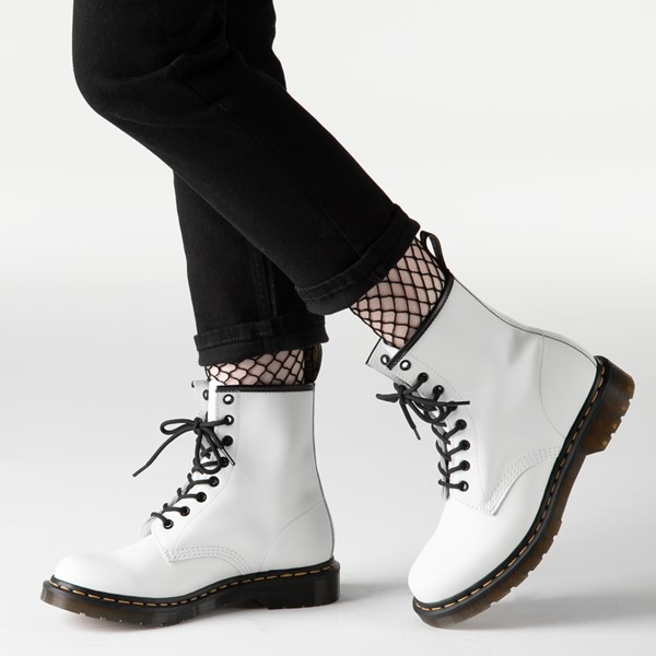alternate view Womens Dr. Martens 1460 8-Eye Boot - WhiteB-LIFESTYLE1