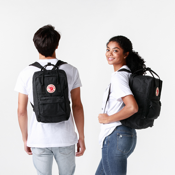 "alternate view Fjallraven Kanken 15"" Laptop Backpack - BlackALT1BADULT"