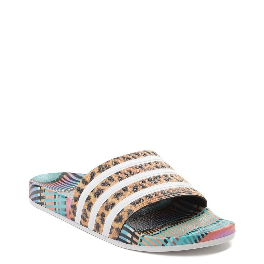 69a7869e792c Womens adidas x FARM Adilette Slide Sandal. Previous. alternate image ALT5.  alternate image default view. alternate image ALT1