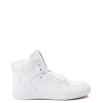 Main view of Mens Supra Vaider Hi Skate Shoe - White