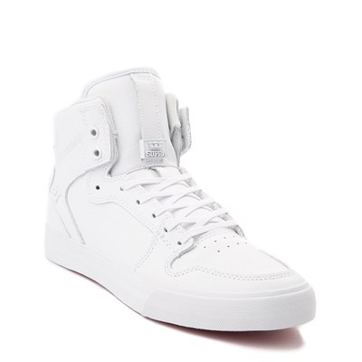 Alternate view of Mens Supra Vaider Hi Skate Shoe - White