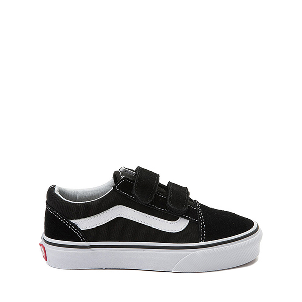 Default view of Vans Old Skool V Skate Shoe - Little Kid - Black