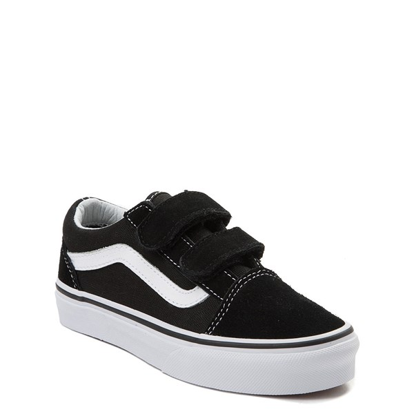alternate view Vans Old Skool V Skate Shoe - Little Kid - Black / WhiteALT1