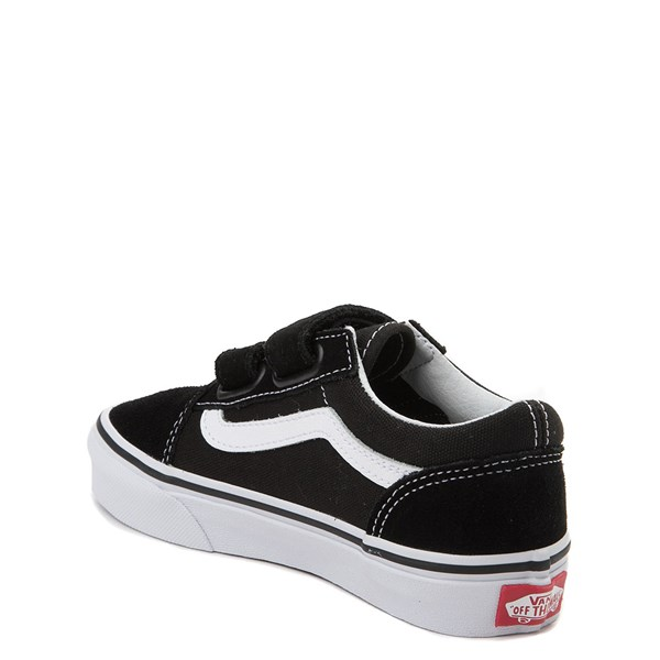 alternate view Vans Old Skool V Skate Shoe - Little Kid - Black / WhiteALT2