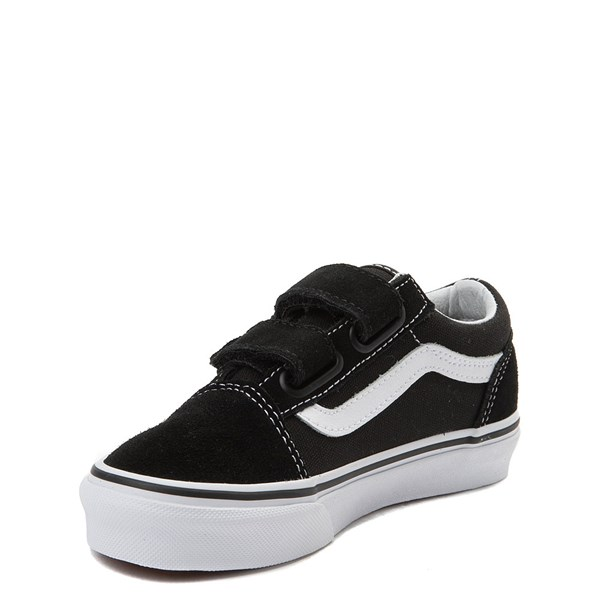 alternate view Vans Old Skool V Skate Shoe - Little Kid - Black / WhiteALT3